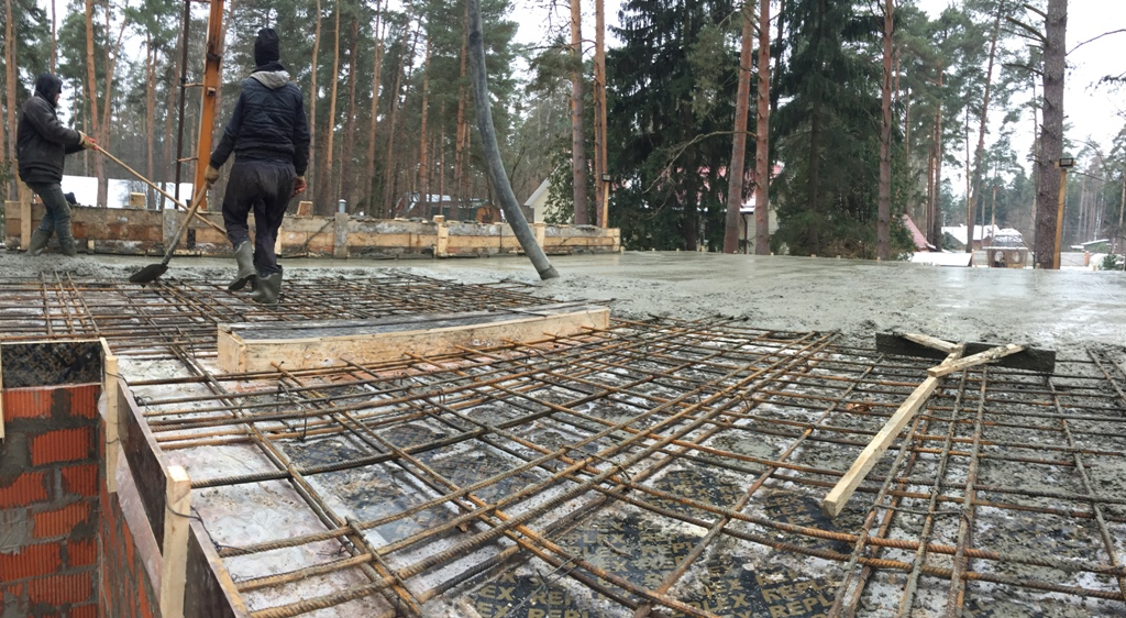 строительство дома в мороз